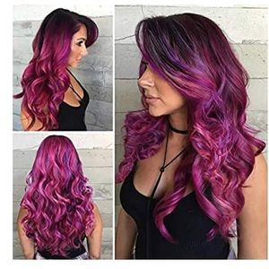 Mixed Purple Loose Wavy Wig